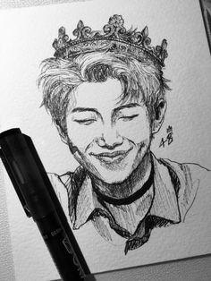 Kpop Drawings, Pencil Art Drawings, Realistic Drawings, Art Drawings Sketches, Fan Art, Dibujos Cute, Korean Art, Bts Chibi, Kpop Fanart