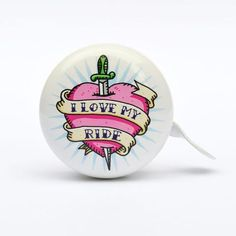 I Love My Ride bicycle bell design by Trevor Dickinson