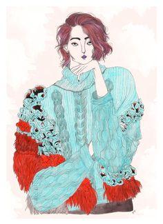 Illustration.Files: Delpozo F/W 2015 Fashion Illustration by Jeremy Combot
