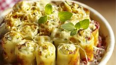 I prefer it with ricotta cheese though. Veggie Recipes, Pasta Recipes, Vegetarian Recipes, Healthy Recipes, Organic Recipes, Ethnic Recipes, Good Food, Yummy Food, Pasta