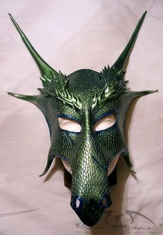 Borealis Dragon Leather mask by upfromtheashes, via Flickr