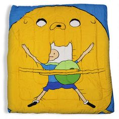 Adventure Time Twin/Full Size Comforter Bedding Set SLAM A COW! my birthday is coming up soon.( just a idea for family members... )