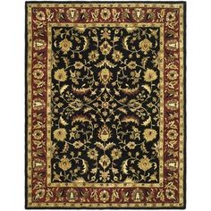 @Overstock - An intricate Oriental design and dense, thick pile highlight this handmade rug. This floor rug has a black background and a red border and displays stunning panel colors of green, gold, ivory, black and red.http://www.overstock.com/Home-Garden/Handmade-Heritage-Heirloom-Black-Red-Wool-Rug-9-x-12/7233593/product.html?CID=214117 $468.89