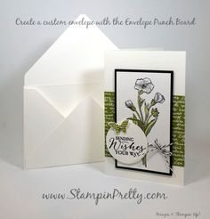 Butterfly Basics for Mojo Monday! - http://stampinpretty.com/2015/07/butterfly-basics-for-mojo-monday.html  Pretty Butterfly Basics stamp set birthday card and a custom sized envelope created with the Envelope Punch Board.  More details & Stampin' Up! card ideas on my Stampin' Pretty blog, http://stampinpretty.com.  Mary Fish, Independent Stampin' Up! Demonstrator.