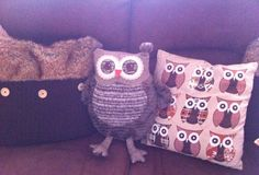 Owl pillows Owl Pillows, Owls, Coin Purse, Wallet, Purses, Decoration, Home Decor, Pocket Wallet, Handbags