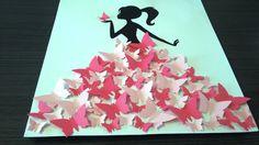 """livre d'or - arbre à signature 3d- arbre à empreintes """"la fille aux papillons """" : Décorations murales par stefebricole"""