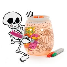 Bring your own Halloween legend to life with this do-it-yourself Warmer and a set of permanent colored markers. Apply haunting hues or more buoyant shades to create the look and feel that best suits your All Hallow's Eve. Scentsy Fall Winter 2016-2017