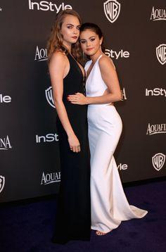 Pin for Later: Après les Golden Globes, L'After-Party! Cara Delevingne et Selena Gomez