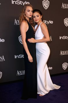 Pin for Later: Après les Golden Globes, L'After-Party! Cara Delevingne et Selena Gomez