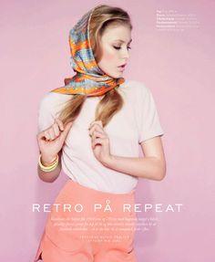 ❦ visual optimism: retro pa repeat: lucia jonova by olivia frolich for elle denmark april 2013