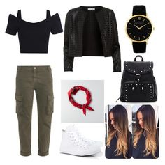 Untitled #33 by jessicamallot on Polyvore featuring polyvore, beauty, American Eagle Outfitters, Larsson & Jennings, Maglie I Blues, STELLA McCARTNEY and Converse