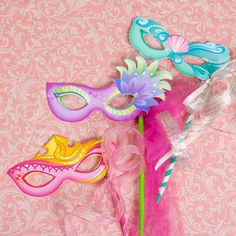 DIY - Disney Princess Masquerade Masks Free Printables and How to (click on the 'view all,' just under the bat crafts and it will be on the list!)