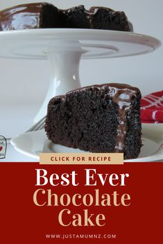 This chocolate cake is simply the best! Delicious, moist, easy and perfect for any occasion, decoration, one tier or several layered! #recipe #cake #chocolate #best #simple #easy #moist #rich