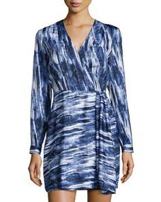 T97AU Catherine Malandrino Brushstroke-Print Jersey Dress