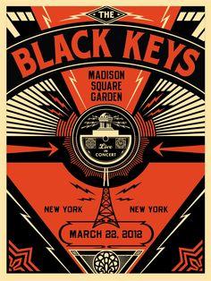 shepard fairey does the black keys