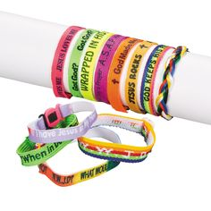 Bulk Religious Friendship Bracelet Assortments are perfect for large event giveaways. Give these bracelets to all your friends! Bracelets make a great party . Operation Christmas Child Boxes, Dog Car Seats, Trunk Or Treat, Vacation Bible School, Oriental Trading, Kids Christmas, Christmas Shoebox, Bracelet Making, Friendship Bracelets