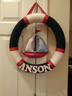Nautical nursery wreath