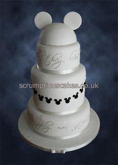 Wedding Cake (816) - Black & White Disney Hat by Scrumptious Cakes (Paula-Jane), via Flickr