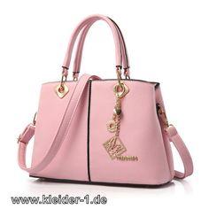Damen Schultertasche Handtasche in Rosa