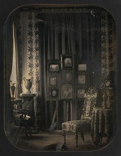 Jean-Baptiste-Louis Gros (French, 1793–1870). The Salon of Baron Gros, 1850–57. The Metropolitan Museum of Art, New York. Purchase, Fletcher Fund, Joyce F. Menschel Gift, Louis V. Bell Fund, Alfred Stieglitz Society and W. Bruce and Delaney H. Lundberg Gifts, 2010 (2010.23) | Gros's exceptional mastery of the technical aspects of the daguerreotype was paired with a refined visual sensibility, seen here in the richness of the setting and the subtle and seductive play of light…