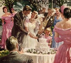 Harold N. Anderson (1894-1973) — One of the Great Moments of your Life your Marriage,1951 (3071×2735)