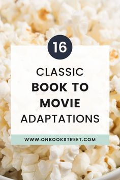 Sometimes you just don't have the time to read a classic novel. Sometimes you want to experience your favorite classic in a new way. In this blog post, you find 16 classic books turned into movies you should watch asap, either to finally get to know the story or to revisit an old favorite. With these book to movie adaptations you're in for many cozy hours on your couch, great love stories and big adventures. Visit the blog to find see them all! | classic literature books with movie adaptations Literature Books, Classic Literature, Classic Books, Great Love Stories, Beautiful Stories, Books Turned Into Movies, Les Miserables 2012, Legend Of Sleepy Hollow, Best Screenplay