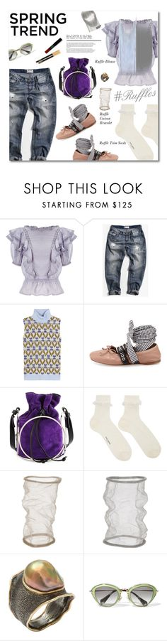 """Spring Trend - Ruffles"" by watereverysunday ❤ liked on Polyvore featuring Étoile Isabel Marant, One Teaspoon, Miu Miu, COSTUME NATIONAL, Yves Saint Laurent, Christian Koban, Marilyn F. Cooperman, Maryam Keyhani and ruffles"