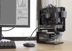 Post with 3258 views. Minimal editing station with custom sff case Gaming Pc Build, Pc Gaming Setup, Computer Build, Computer Workstation, Computer Setup, Pc Setup, Gaming Computer, Custom Computer Case, Custom Computers