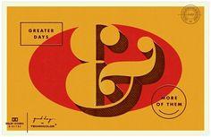 guten tag ca serie von Braden Wise Vintage Typography, Typography Letters, Typography Logo, Graphic Design Typography, Ampersand Sign, Monogram Letters, Types Of Lettering, Hand Lettering, Ticket Design