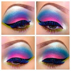 Inspiring Collection of Creative Eye Make-Up Rave Makeup, Glam Makeup, Makeup Inspo, Makeup Art, Makeup Inspiration, Beauty Makeup, Makeup Ideas, Exotic Makeup, Fairy Makeup