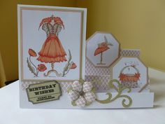 Stepper card with images from Fabulous Fashion.