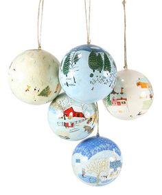 Look what I found on #zulily! Festively Folk Ornament - Set of Five #zulilyfinds