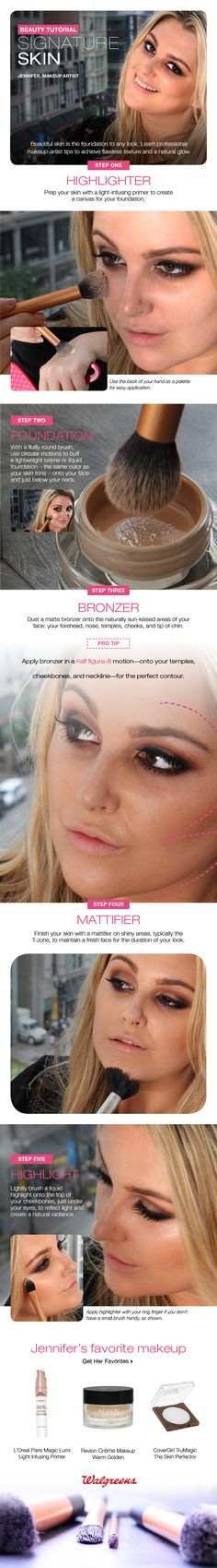 Beautiful skin is the foundation to any look. Learn makeup artist tricks to achieve it yourself.