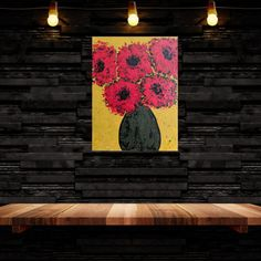 Abstract flowers painting, floral art, flower painting Abstract Flowers, Abstract Art, Red Flowers, Creative Art, Painted Furniture, Etsy Seller, Unique Jewelry, Handmade Gifts, Floral