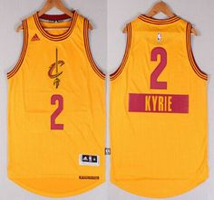 a71358650 ... Cleveland Cavaliers Jersey 2 Kyrie Irving 2015 Revolution 30 Swingman  Black With Gold Fashion Jerseys ...