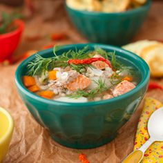 Salmon Vegetable Soup with Barley