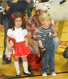 Dennis the Menace and Margaret - Homemade costumes for kids