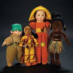 Four English Felt Dolls by Norah Wellings $500+ Auctions Online | Proxibid