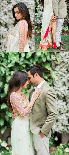 Gorgeous Palm Beach, Florida Indian Engagement photos by The Big Day - Makeup 2019 Indian Engagement Photos, Engagement Photo Poses, Engagement Photography, Pre Wedding Photoshoot, Wedding Shoot, Wedding Couples, Hair Wedding, Wedding Engagement, Engagement Ideas