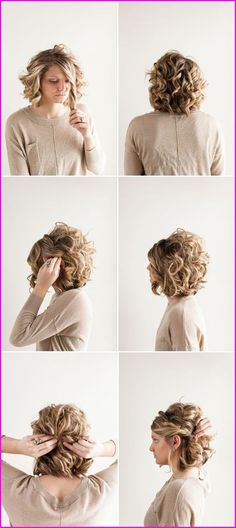 Elegant prom hairstyles for short wavy hair prom hairstyles updos curly Prom Hairstyles For Short Hair, Wavy Bob Hairstyles, Short Straight Hair, Braided Hairstyles, Wedding Hairstyles, Bob Haircuts, Pretty Hairstyles, Drawing Hairstyles, Hairstyles Videos