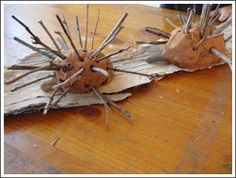 Kids Craft Weekly - Issue 51 - Aboriginal Art and Culture, clay and stick echidnas