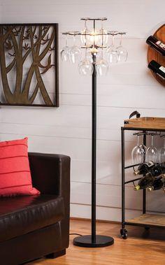 Wine Glass Holder Floor Lamp