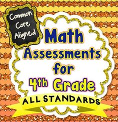 This 60+ page assessment bundle contains quick, 1 page math assessments for every Common Core Math standard for 4th Grade. There are 2 assessments included for each standard. Each assessment has the same 5 question format to ensure consistency in data. I LOVE using these as quick quiz grades because they are SO EASY to correct and grade! These assessments packs are also available for grades 1,2,3, and 5! #commoncore #4thgrade #commoncoremath #assessments