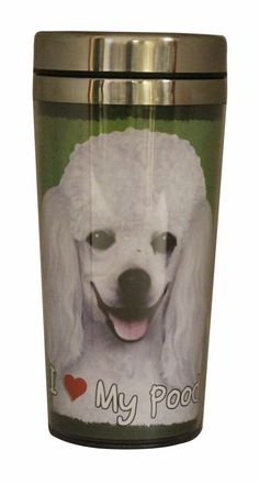 EandS Pets Stainless Steel Poodle White Tumbler, 16 oz -- Be sure to check out this awesome product. (This is an Amazon affiliate link)