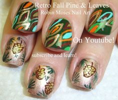 Mix & Match Fall Nail Art Design Tutorial features Dazzle Dry's Me d' Forest Queen