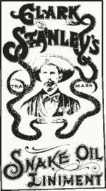 """Prior to establishment of the modern day FDA, medicine advertising promoted unsafe, unproven and ineffectual health products. Ever heard of the term """"snake oil salesman?"""" The term was likely inspired by Clark Stanley's """"Snake Oil Liniment"""" which he sold during the late 1800s up until about 1916. After the U.S. government analyzed Stanley's concoction and found it contained mineral oil, beef fat, red pepper, turpentine and camphor, it deemed the product of no value and fined Stanley $20."""