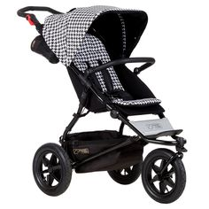 New Mountain Buggy Urban Jungle Pepita Luxury Collection 3 Wheel Stroller evolution of an icon… We are auth. dealers for Mountain Buggy so your purchase will Mountain Buggy, Phil And Teds, Bag Clips, White Butterfly, Urban, Prams, Printing On Fabric, Baby Strollers, Car Seats