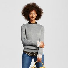 Women's Lace Trim Crew - Who What Wear ™ : Target