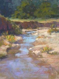 Fremont Canyon Wash by Kim Lordier Pastel ~ 12 x 9