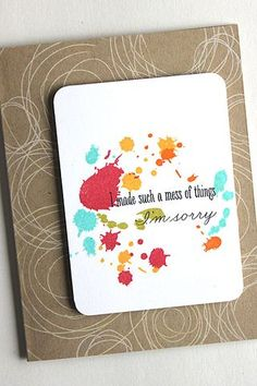 Mess Of Things Card by Heather Nichols for Papertrey Ink (December 2014)